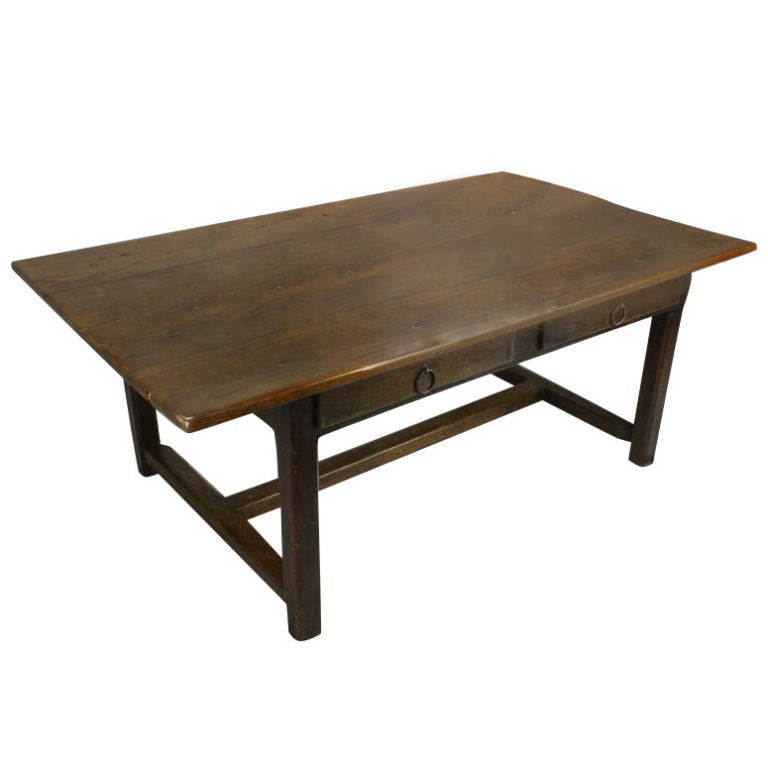 Antique Two Drawer French Cherry Coffee Table At 1stdibs