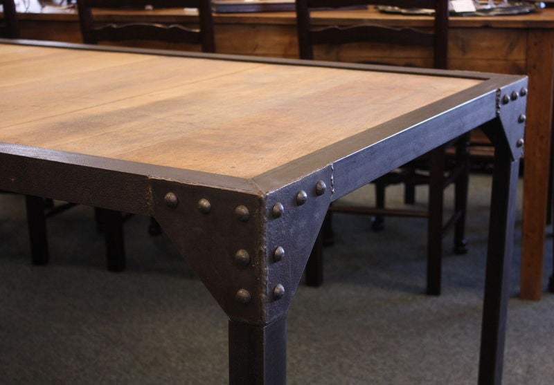 french industrial steel dining table at 1stdibs