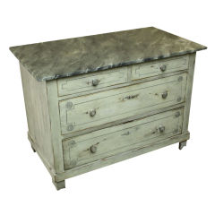 Antique Pine Chest of Drawers, Hand Painted