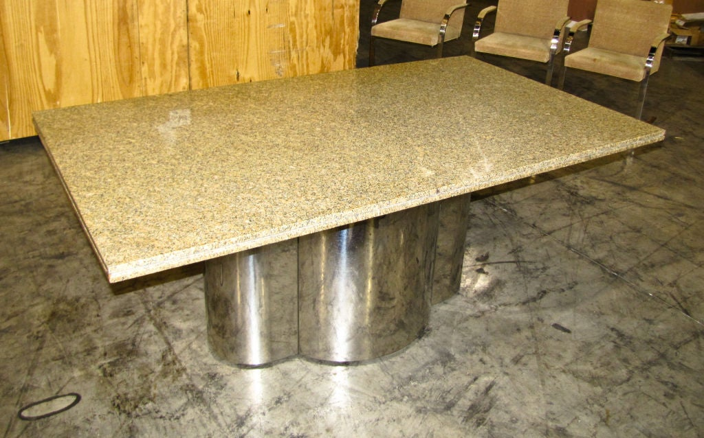 Chrome Base Dining Table with Granite Top at 1stdibs : 791312741365462 from 1stdibs.com size 1024 x 638 jpeg 135kB