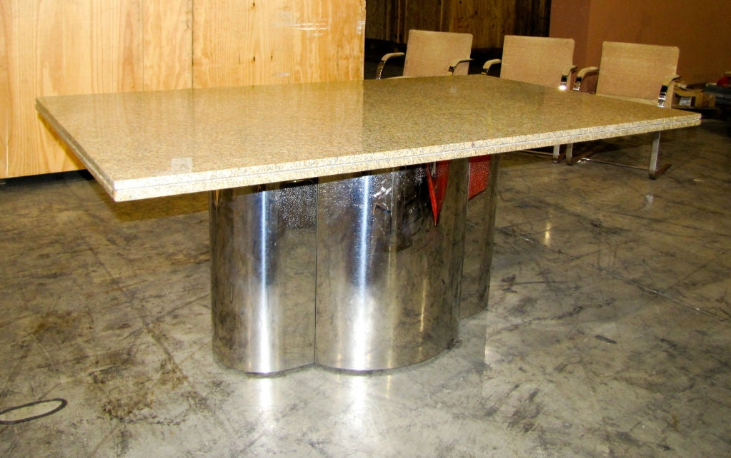 Chrome Base Dining Table with Granite Top at 1stdibs : 791312741365463 from www.1stdibs.com size 1023 x 642 jpeg 111kB