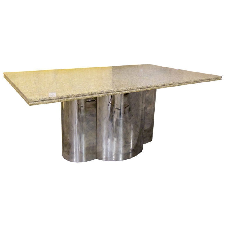 Chrome Base Dining Table with Granite Top at 1stdibs : XXX791312741365461a1 from www.1stdibs.com size 768 x 768 jpeg 29kB