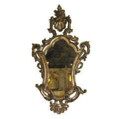 18th Century Silver Gilt Venetian Mirror