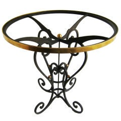 Arturo Pani  Iron  and Bronze Side Table