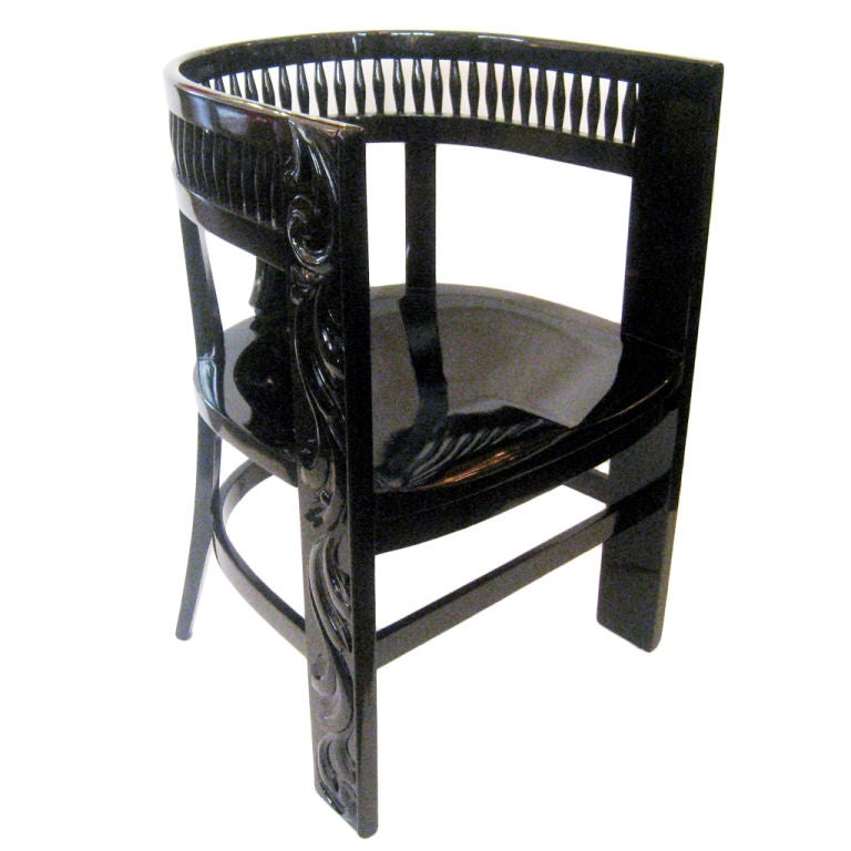 Black Lacquer Chair At 1stdibs