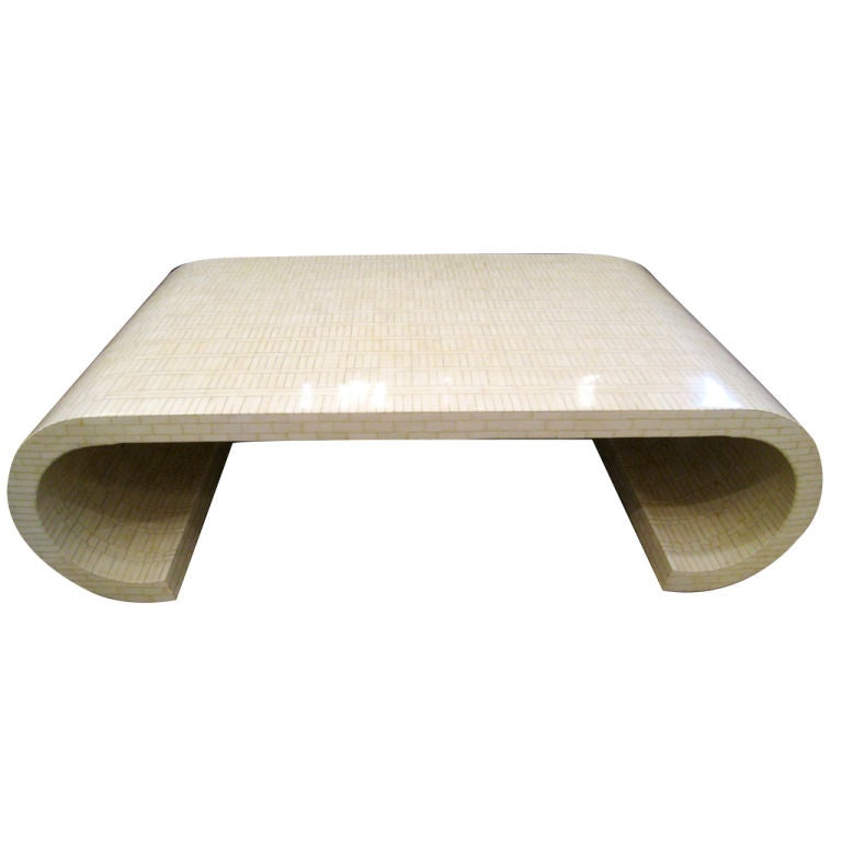 Five Foot Tessellated Bone Cocktail Table At 1stdibs