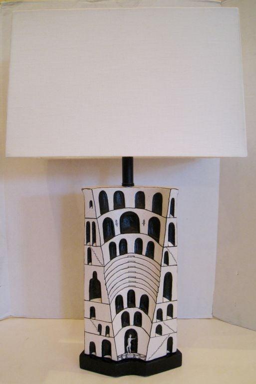 Marcello Fantoni Ceramic Lamp For Sale 2