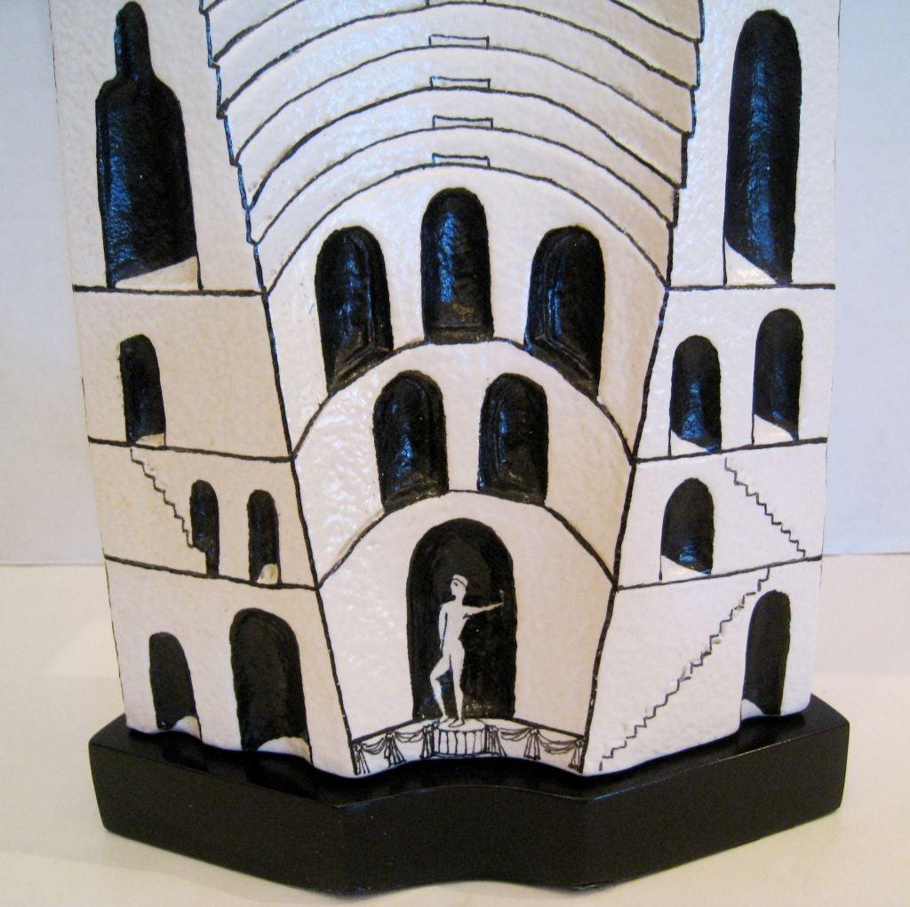 Marcello Fantoni Ceramic Lamp For Sale 1
