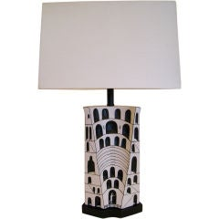 Marcello Fantoni Ceramic Lamp