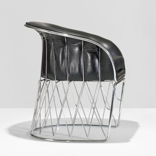 "Chrome and Leather ""Equipal"" Chair by Pedro Ramirez Vasquez 2"