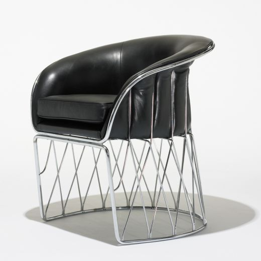 "Chrome and Leather ""Equipal"" Chair by Pedro Ramirez Vasquez 8"