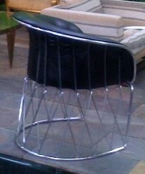 "Chrome and Leather ""Equipal"" Chair by Pedro Ramirez Vasquez 5"