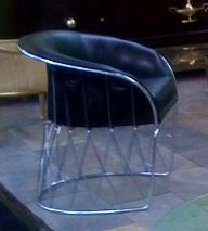 "Chrome and Leather ""Equipal"" Chair by Pedro Ramirez Vasquez 4"