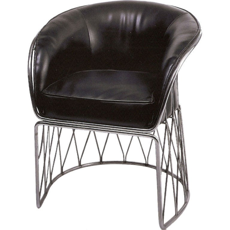 "Chrome and Leather ""Equipal"" Chair by Pedro Ramirez Vasquez 3"