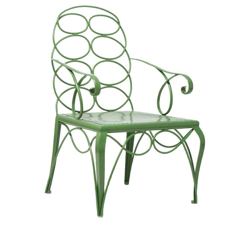 Steel Frances Elkins Chair For Sale