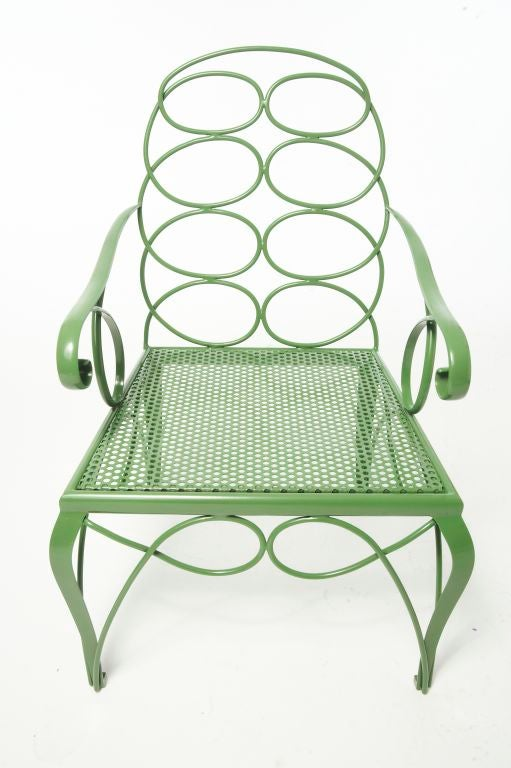 Downtown Classics Collection Steel Frances Elkins Chair.<br /> Available with or without Arms.<br /> 200 Plus Colors from which to Choose.
