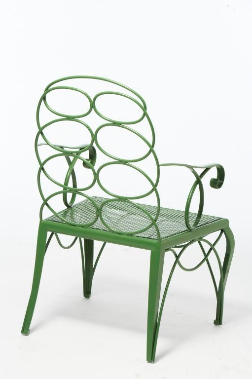 Contemporary Steel Frances Elkins Chair For Sale