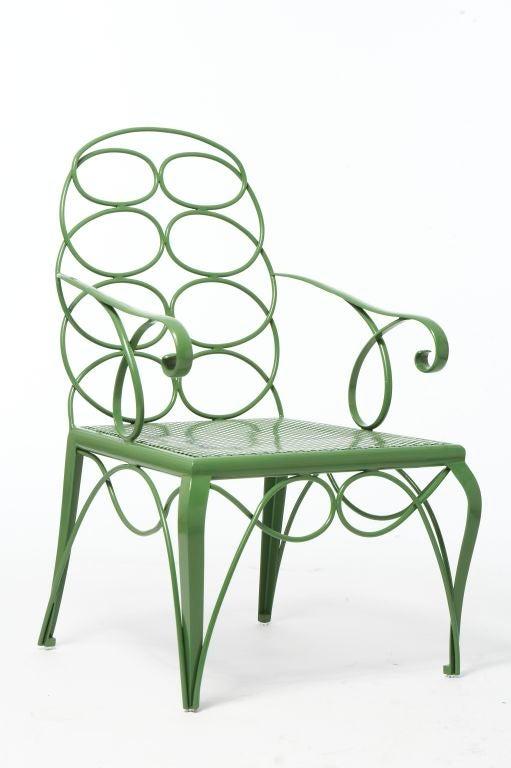 Steel Frances Elkins Chair For Sale 1