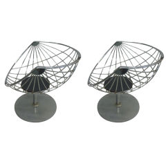 Pair of Belgian Mid Century Modern Chrome Lounge Chairs by Rudi Verelst