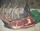 Untitled 'Still Life with Cut Ribs' by Micheline Mevel-Roussel