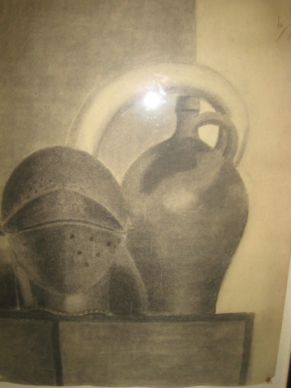 Drawing Still Life: Jug and Helmet by Beeldens, 1935 2