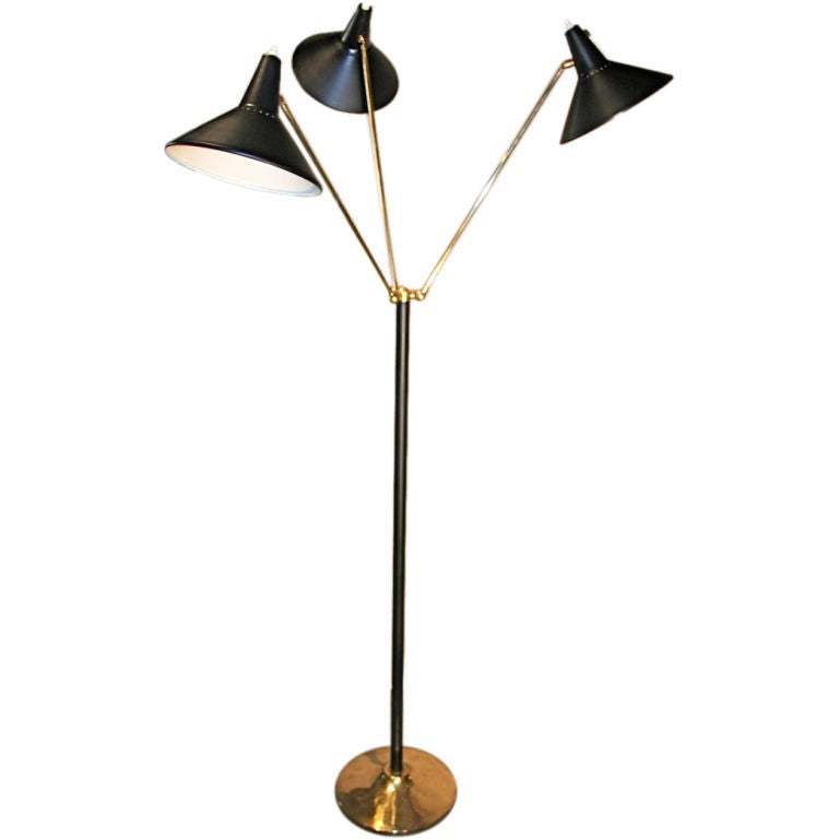 Italian 50s Multi Arm Pivoting Floor Lamp At 1stdibs