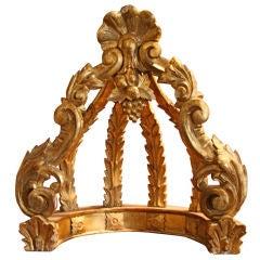 Italian 19th C. Gold Leaf Crown