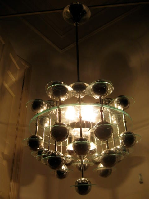 Late 20th Century Italian Modular Satellite Chandelier 70s For Sale