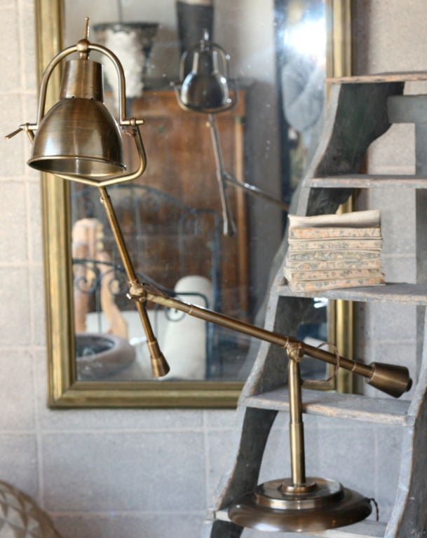 brass pharmacy table lamp at 1stdibs. Black Bedroom Furniture Sets. Home Design Ideas