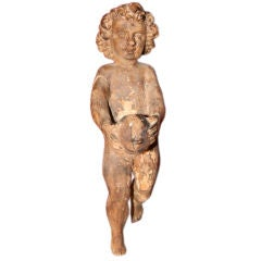 Italian Carved Cherub