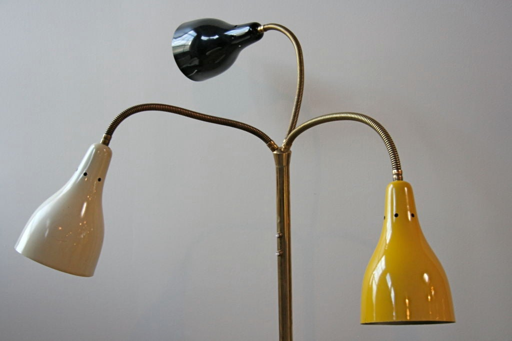 Mid-20th Century Italian 50's Arteluce with Flexible Colored Arms