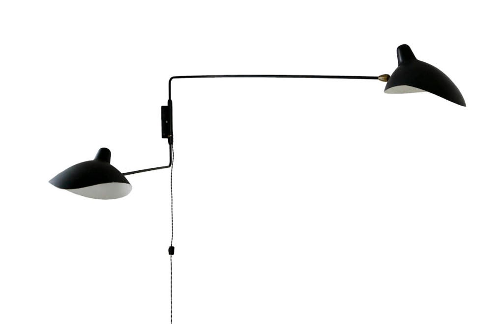 serge mouille two arm wall lamp at 1stdibs