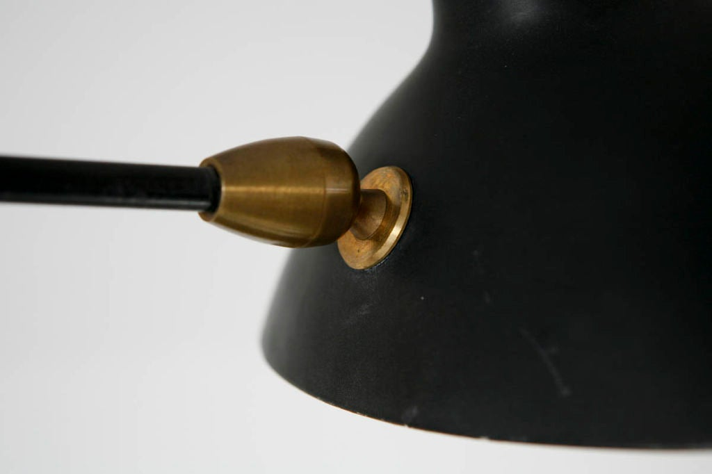 Serge Mouille Two Arm Wall Lamp In Excellent Condition For Sale In Los Angeles, CA