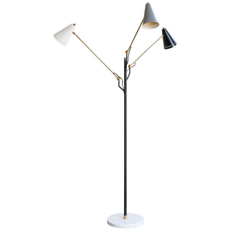Rare Arredoluce Tri Arm Floor Lamp For