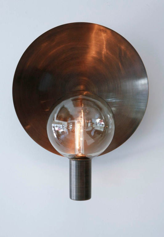 Rewire Custom Brass and Blown Glass Sconce at 1stdibs