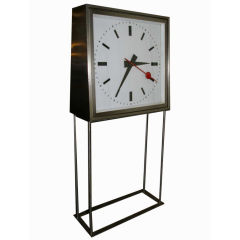 French Double Faced Train Station Clock