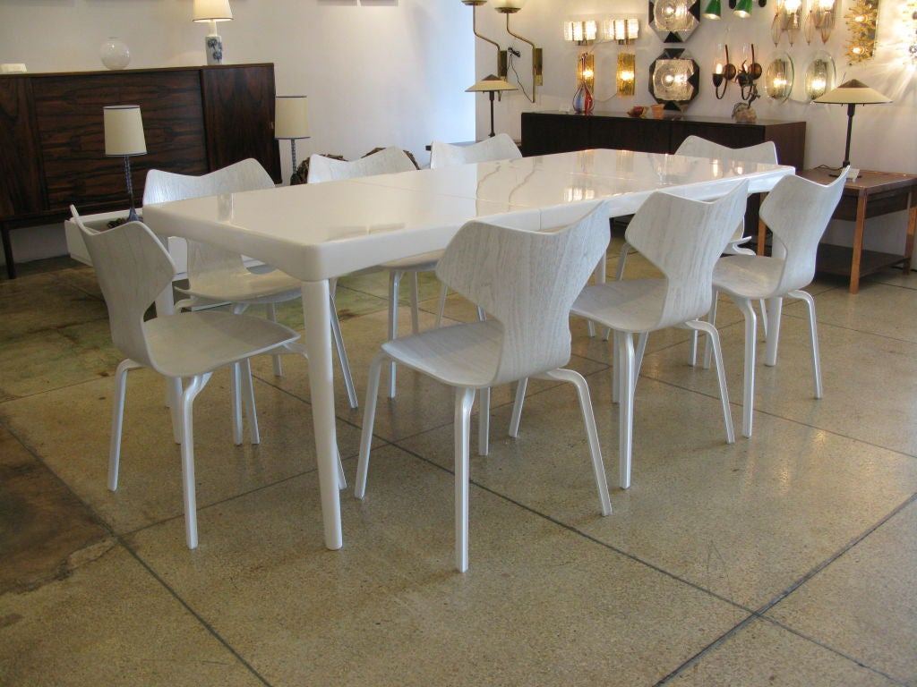 original danish designer dining set in white at 1stdibs