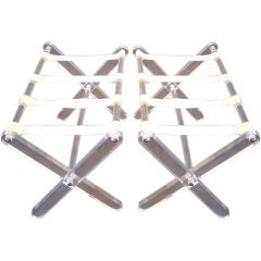 William Haines (1900-1973) Pair of Luggage Stands / Tray Stands