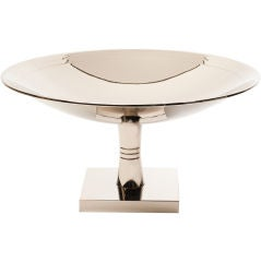 Tommi Parzinger (1930-1991) Nickel Plated Footed Bowl