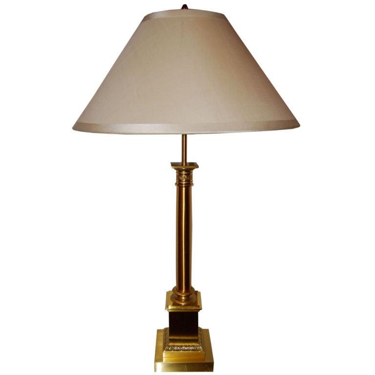 Charles et fils column table lamp at 1stdibs for Table franco et fils