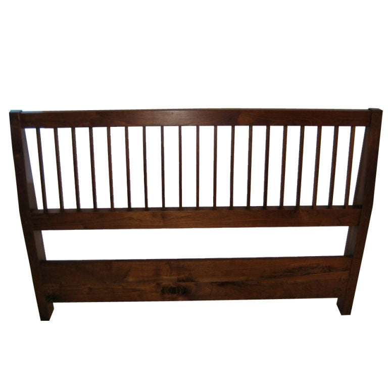 George Nakashima Queen Size Slatted Headboard For Sale