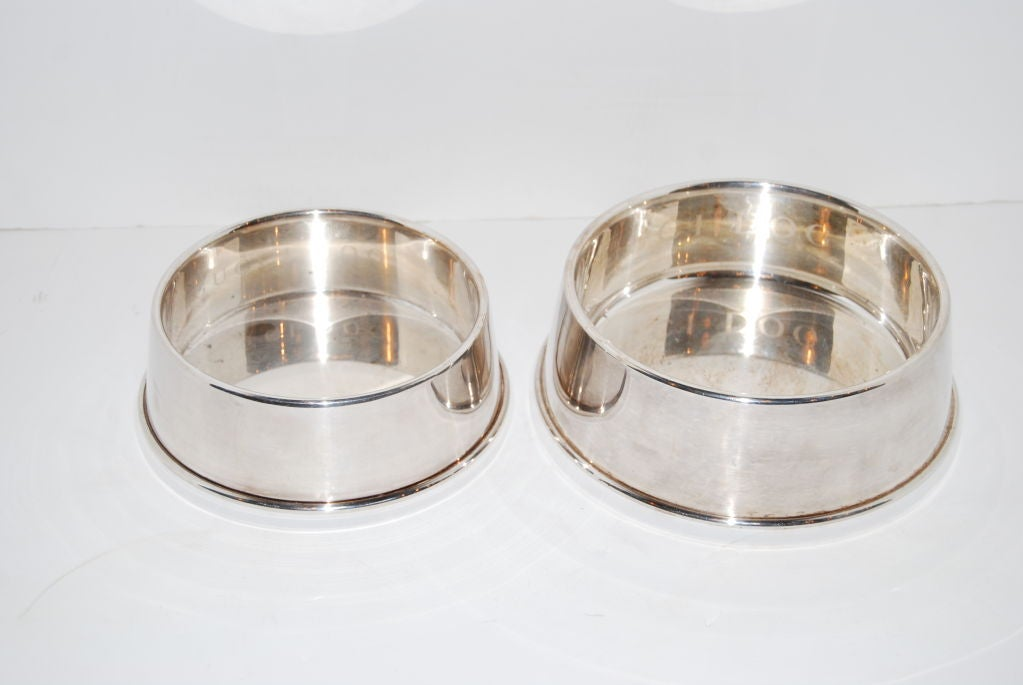 Gucci Dog Bowls in Sterling Silver 2