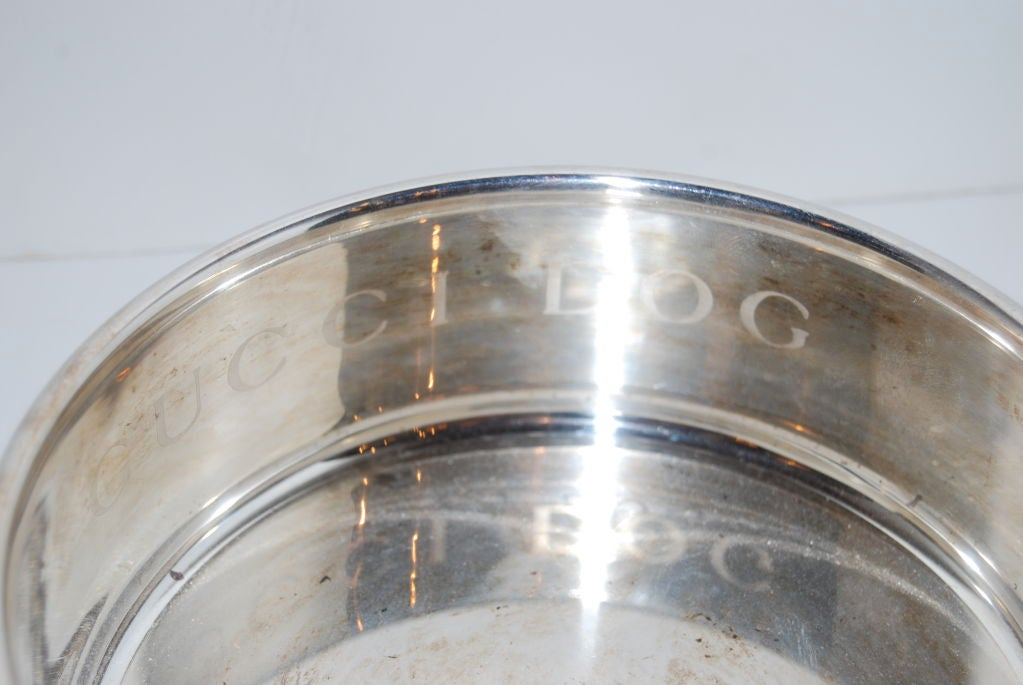 Gucci Dog Bowls in Sterling Silver 3