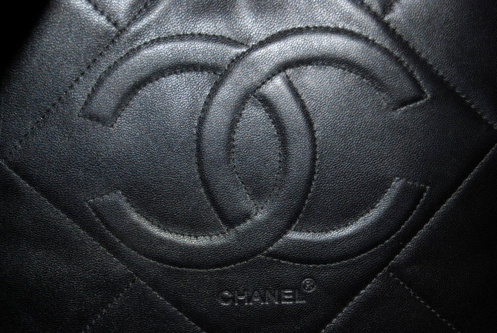 Rare Chanel Leather Throw Pillow at 1stdibs