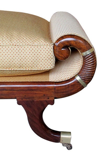 A Curvaceous Pair of English William IV Faux Rosewood Recamiers image 5