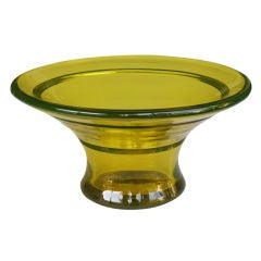 A Thickly-Molded & Good Quality Bohemian Art Deco Glass Bowl