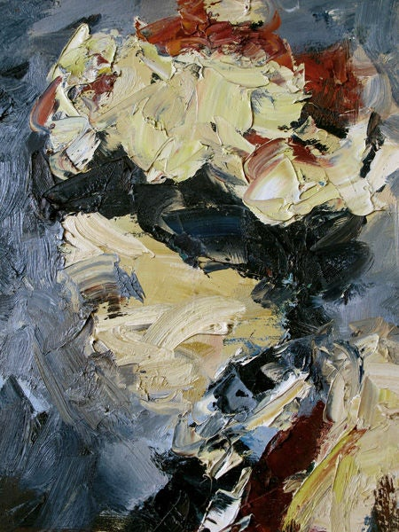 An Expressive American 1950s Abstract Expressionist Oil ...