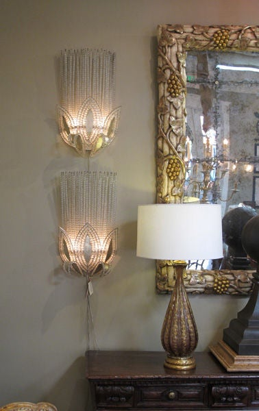 A Rare Pair of French Art Deco Wall Lights, Attributed to Bagues image 7