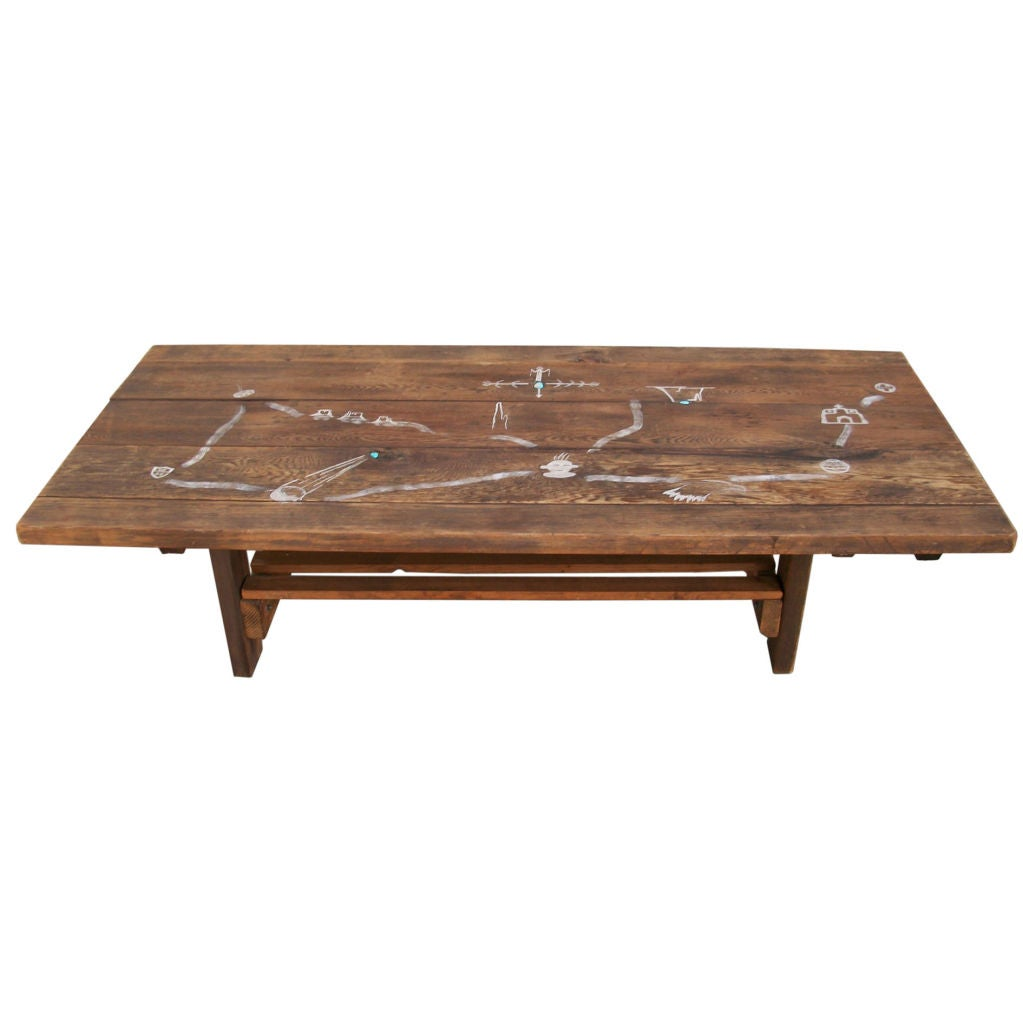 Late 19thc Coffee Table From A Mission In Santa Fe New Mexico At 1stdibs