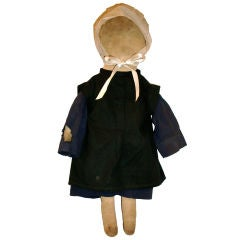 EARLY 20THC AMISH DOLL FROM PENNSYLVANIA